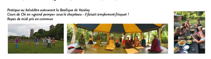 Chapiteau, Vezelay et repas Art du Chi Bourgogne