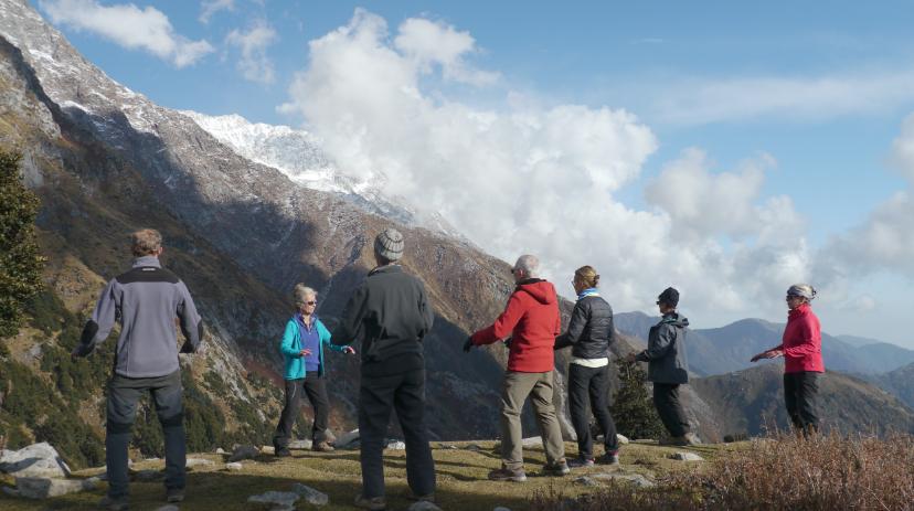 Pratique de l'Art du chi dans les contreforts Himalayens