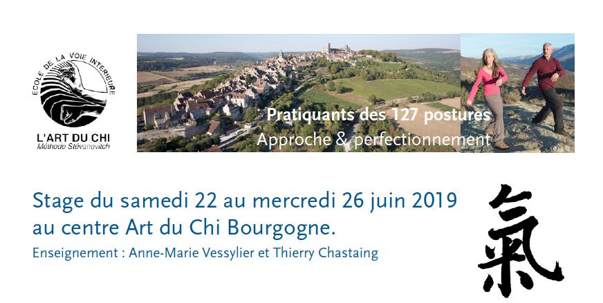 bandeau stage 127 postures été 2019 au centre Art du chi Bourogne
