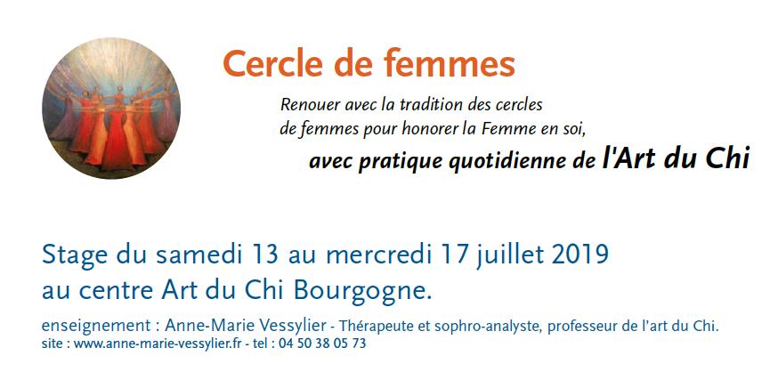 bandeau cercle de femme juillet 2019 au centre Art du Chi Bourgogne