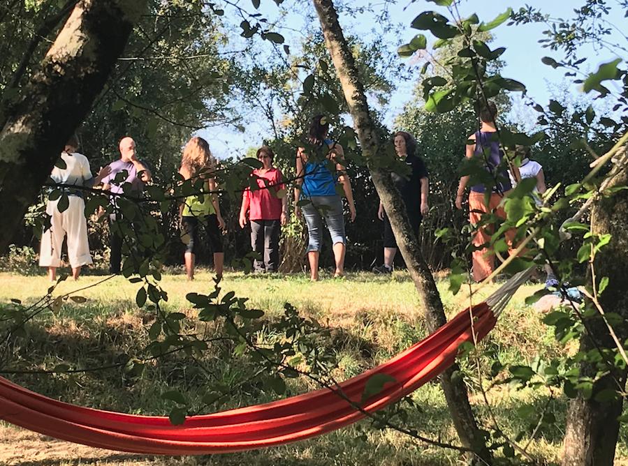séance découverte de l'Art du Chi en août 2018 au centre de bourgognee
